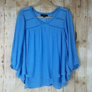 GNW Blue Tiered Top Size S